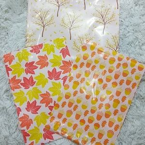 25 Autumn Themed Poly Mailers - 2 Sizes